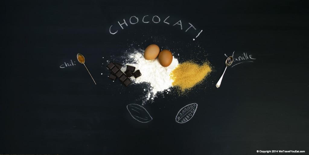 Ingrédients pour coulant au chocolat et piment