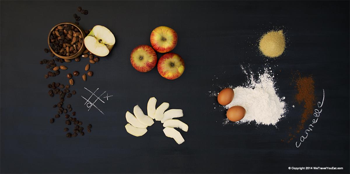Apfelstrudel, strudel au pommes, cannelle, raisins sec et noisettes, gateau autrichien, Autriche