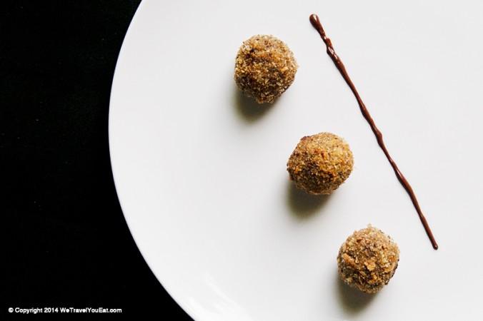 croquette chocolat, dessert au chocolat, explosion, croustillant, philippe conticini