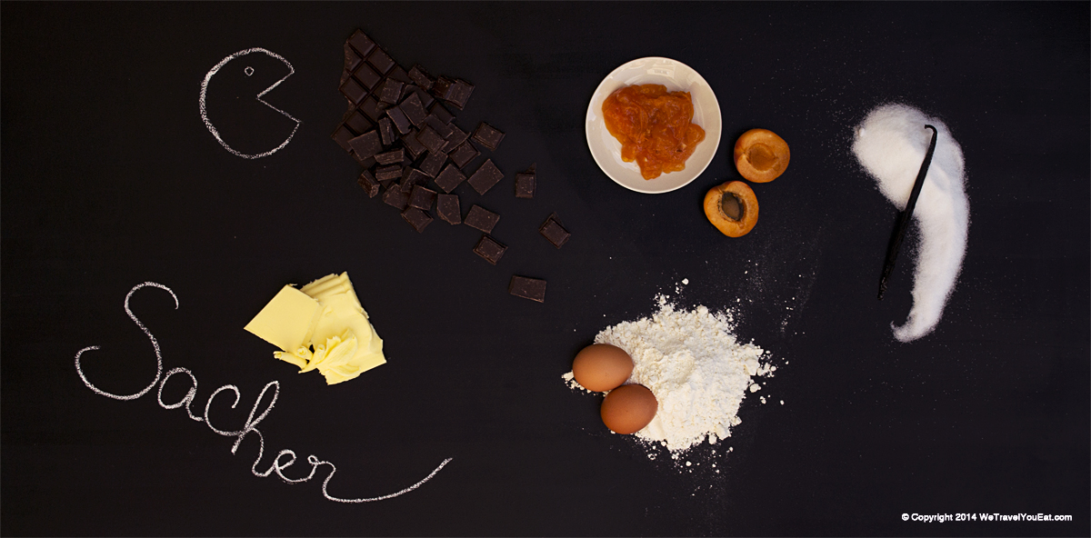 Sachertorte, Sacher café, sacher, autriche, vienne, gateaux, chocolat, cacao, confiture, abricot, glaçage, couverture chocolat