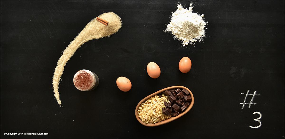 ingrédients, gâteaux, noël, meringue, chocolat, amandes, meringue au chocolat, meringue au chocolat et aux amandes, gourmandise, bouchées, chocolaté, petits gâteaux