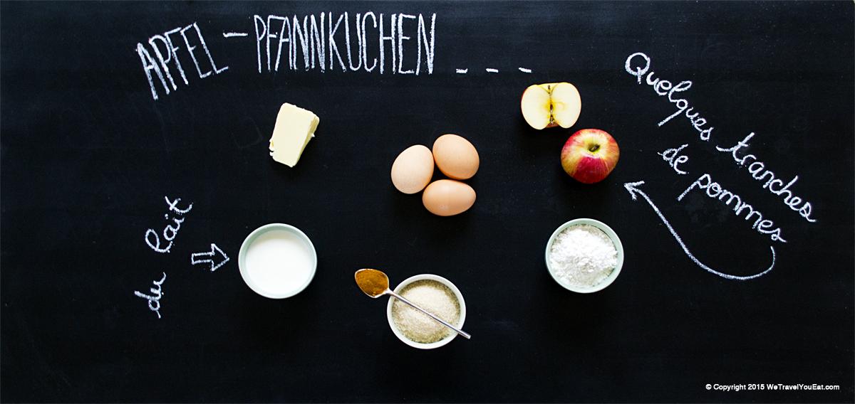 apfel pfannkuchen, galette aux pommes, gâteau aux pommes, recette allemande, dessert, plat sucré