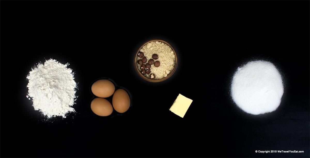 ingrédients gâteau aux noisettes