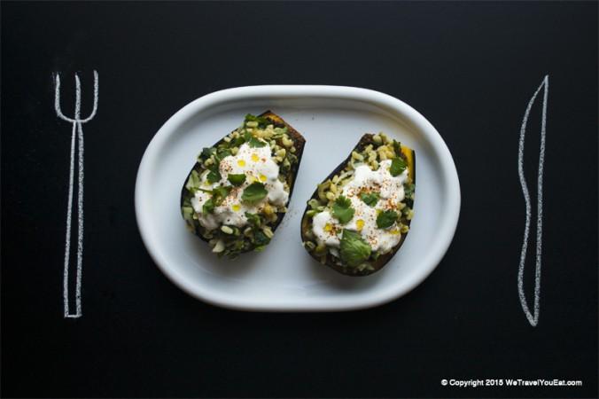 aubergine, chermoula, salade, bulgur, blé, israel, recette, palestine, aubergine au four, aubergine farcies, yaourt